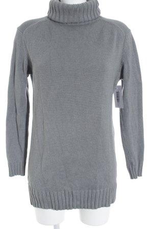Esprit Rollkragenpullover grau Webmuster schlichter Stil