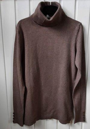 Esprit Rollkragenpullover Pullover Knopfleiste Größe M braun