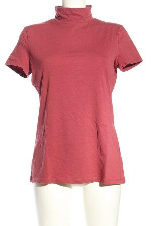 Esprit Camisa de cuello de tortuga rojo look casual