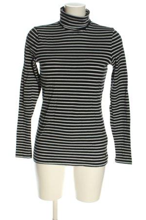 Esprit Colshirt zwart-wit gestreept patroon casual uitstraling