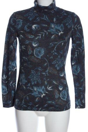 Esprit Koszulka z golfem niebieski Na całej powierzchni W stylu casual
