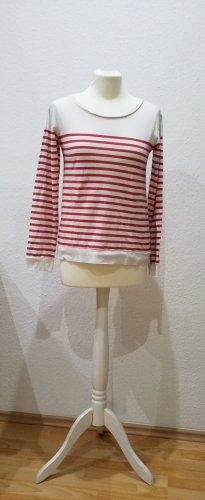 Esprit rot-weiß gestreiftes Longsleeve in Größe S. Sehr schön und kaum getragen