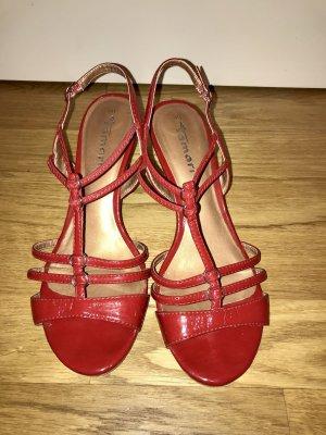 Esprit - Rote Lack Sandalen Gr. 40 guter Zustand