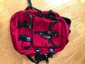 Esprit School Backpack dark red-black