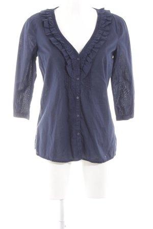 Esprit Rüschen-Bluse blau Business-Look