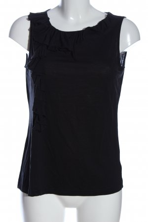 Esprit Rüschen-Bluse schwarz Casual-Look