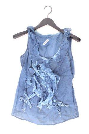 Esprit Rüschenbluse Größe 36 Ärmellos blau aus Baumwolle