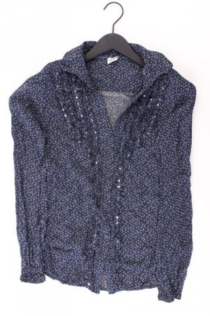 Esprit Rüschenbluse Größe 36 Langarm blau aus Polyester