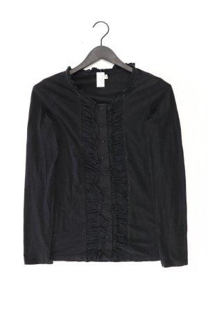 Esprit Rüschenbluse Größe L Langarm schwarz aus Baumwolle
