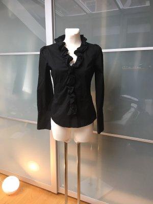 esprit collection Camicetta con arricciature nero