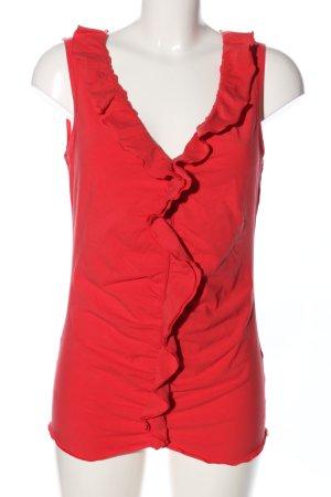 Esprit Rüschentop rot Casual-Look