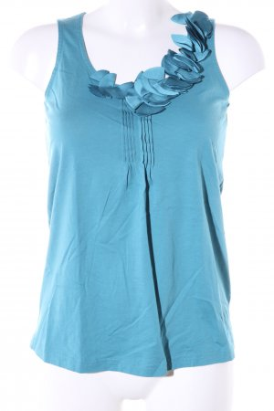Esprit Rüschentop blau Casual-Look