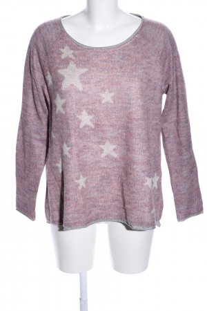 Esprit Rundhalspullover pink meliert Casual-Look