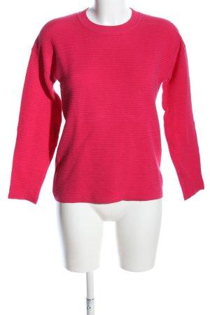 Esprit Rundhalspullover pink Streifenmuster Casual-Look