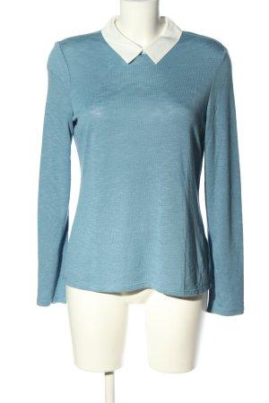 Esprit Jersey de cuello redondo azul-blanco puro moteado look casual