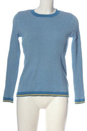 Esprit Rundhalspullover blau-weiß Casual-Look