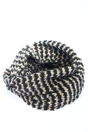 Esprit Rundschal schwarz-weiß Streifenmuster Casual-Look