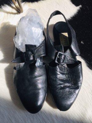 Esprit Outdoor sandalen zwart Leer