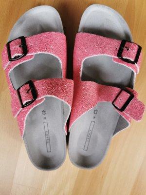 Esprit Sandalias de tacón con plataforma rosa