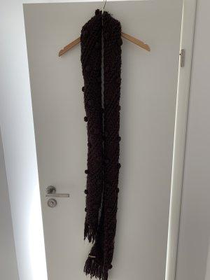 Esprit Wełniany szalik brązowy-ciemnobrązowy