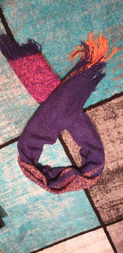 Esprit Bufanda de lana rojo frambuesa-violeta oscuro