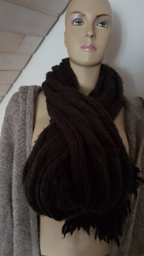 Esprit Bufanda de lana marrón oscuro