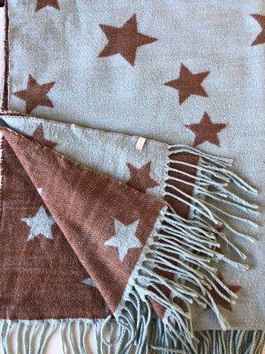 Esprit Bufanda de flecos marrón-azul claro