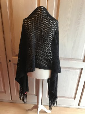 Esprit Crochet Scarf black cotton