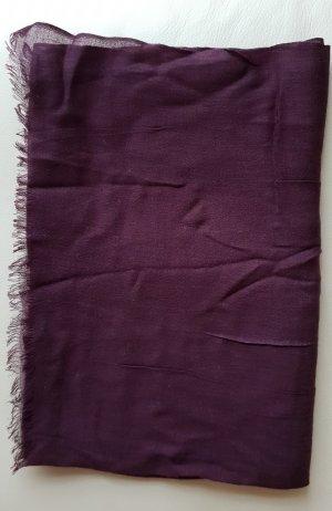 esprit collection Bufanda de flecos rojo zarzamora-púrpura