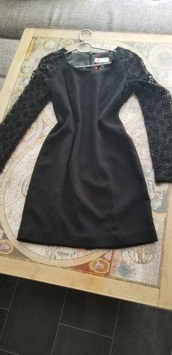 ESPRIT Schickes elegantes Kleid schwarz mit Spitze
