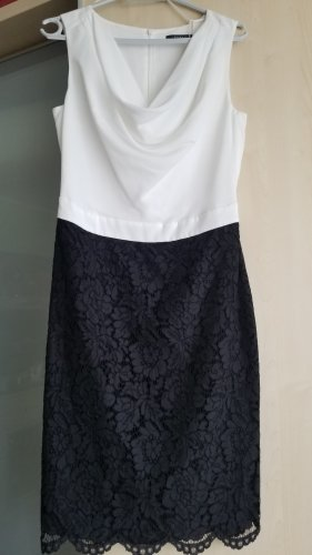 ESPRIT Schickes elegantes Kleid schwarz /weiß
