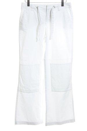 Esprit Pantalon pattes d'éléphant blanc style simple