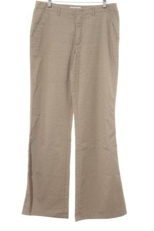 Esprit Pantalon pattes d'éléphant beige style décontracté