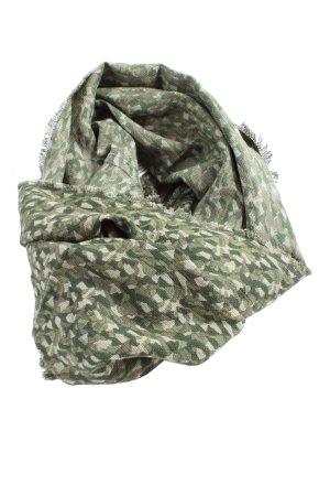 Esprit Bufanda tubo caqui-gris claro estampado de camuflaje look casual
