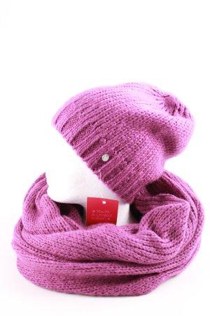 Esprit Bufanda tubo rosa punto trenzado look casual