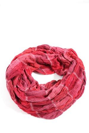 Esprit Bufanda tubo rosa-rojo estampado a rayas look casual