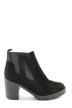 Esprit Schlüpf-Stiefeletten schwarz Casual-Look