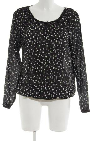 Esprit Schlupf-Bluse schwarz-weiß abstraktes Muster Business-Look