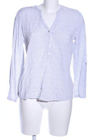 Esprit Schlupf-Bluse weiß-schwarz Allover-Druck Casual-Look