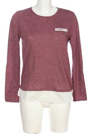 Esprit Longsleeve pink-weiß Casual-Look