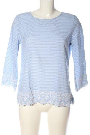 Esprit Schlupf-Bluse blau-weiß Streifenmuster Casual-Look
