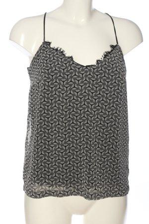 Esprit Schlupf-Bluse schwarz-weiß abstraktes Muster Casual-Look