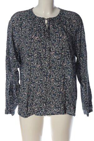 Esprit Schlupf-Bluse schwarz-wollweiß Allover-Druck Casual-Look