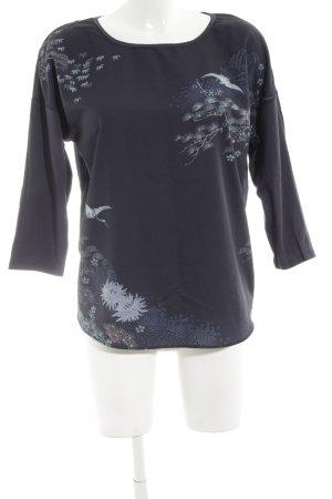 Esprit Schlupf-Bluse blau Blumenmuster Casual-Look