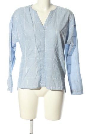 Esprit Schlupf-Bluse blau-weiß Allover-Druck Casual-Look
