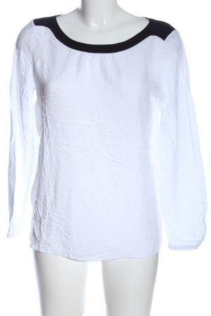 Esprit Schlupf-Bluse weiß-schwarz Casual-Look