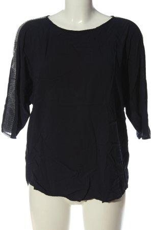 Esprit Schlupf-Bluse schwarz-silberfarben Casual-Look