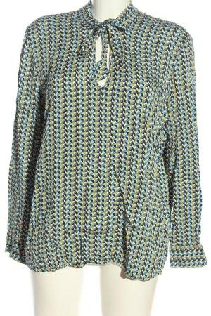 Esprit Schlupf-Bluse blau-blassgelb abstraktes Muster Casual-Look