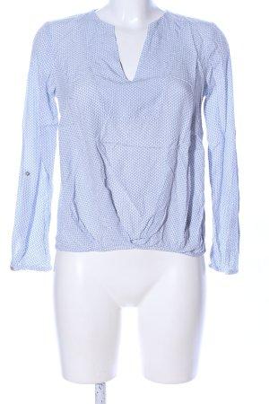 Esprit Schlupf-Bluse blau-weiß Allover-Druck Business-Look