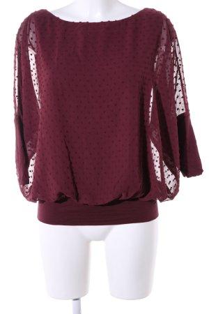 Esprit Slip-over blouse rood gestippeld patroon elegant